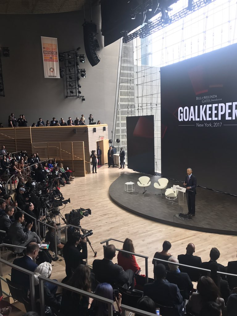 &quot;To quote myself, yes we can!&quot;- @BarackObama on pursuing progress &amp; the power of optimism at #Goalkeepers17 <br>http://pic.twitter.com/aZrYUCtObC