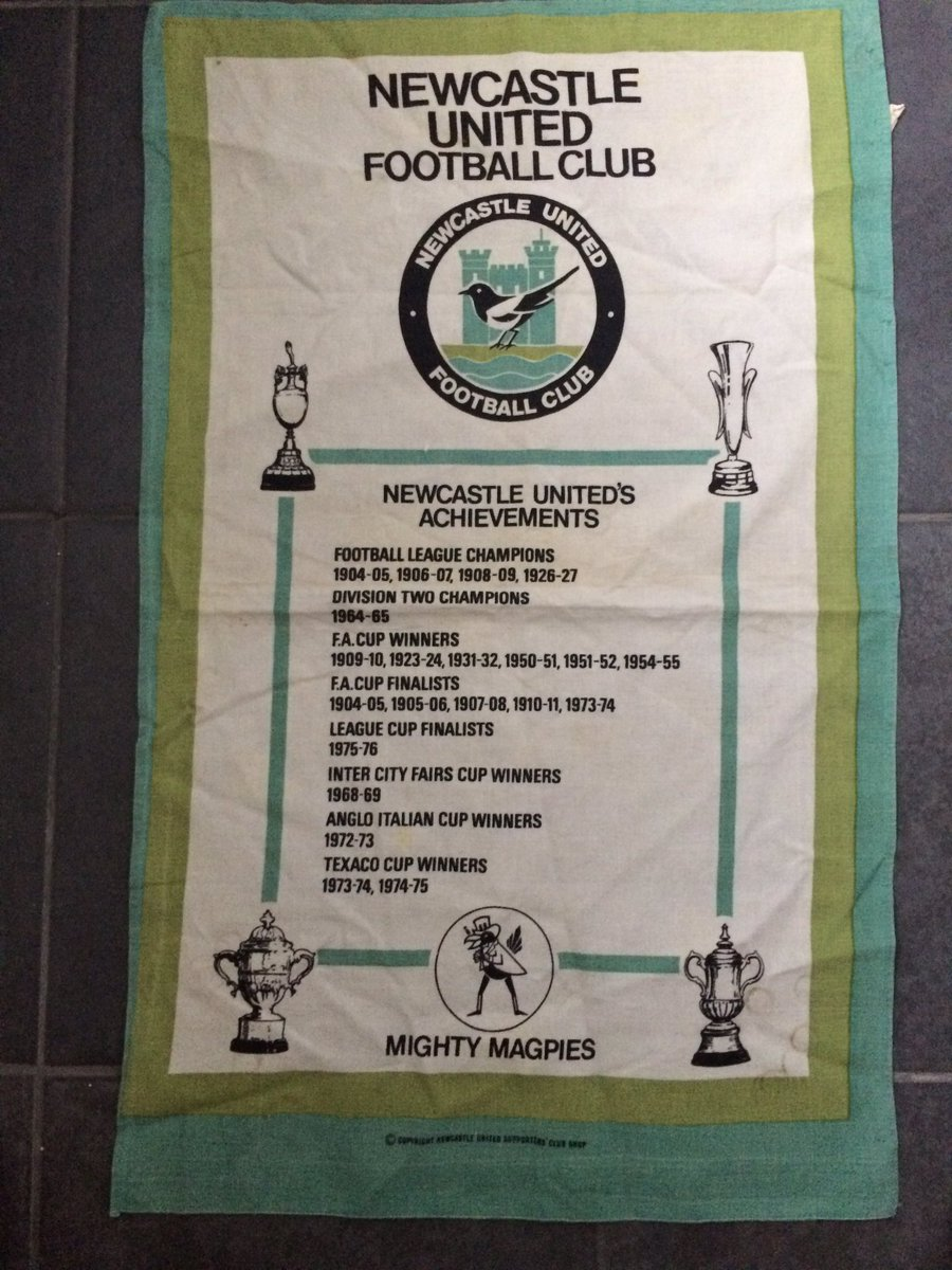 When you buy a tea towel from the Club Shop and 40 years later it&#39;s still in date ! #nufc <br>http://pic.twitter.com/LEh8rqGlsp