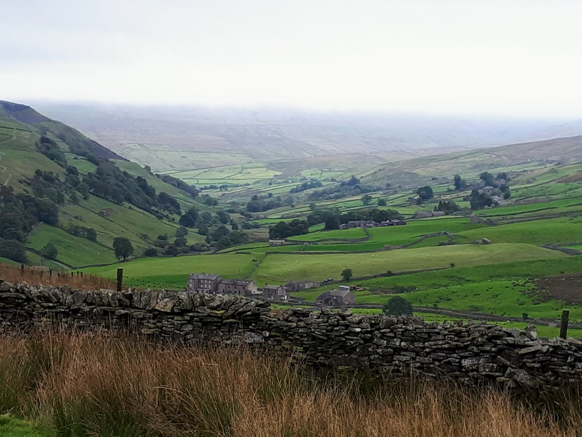 Day 9 #Coast2Coast walk. The beautiful #swaledale valley and some less beautiful but  interesting old lead mines. @WalksBritain<br>http://pic.twitter.com/eeckQ5ObJH