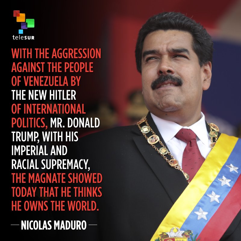 RT @telesurenglish: President Nicolas Maduro of Venezuela responds to renewed threats by Donald Trump. https://t.co/wF4F9HP1vG
