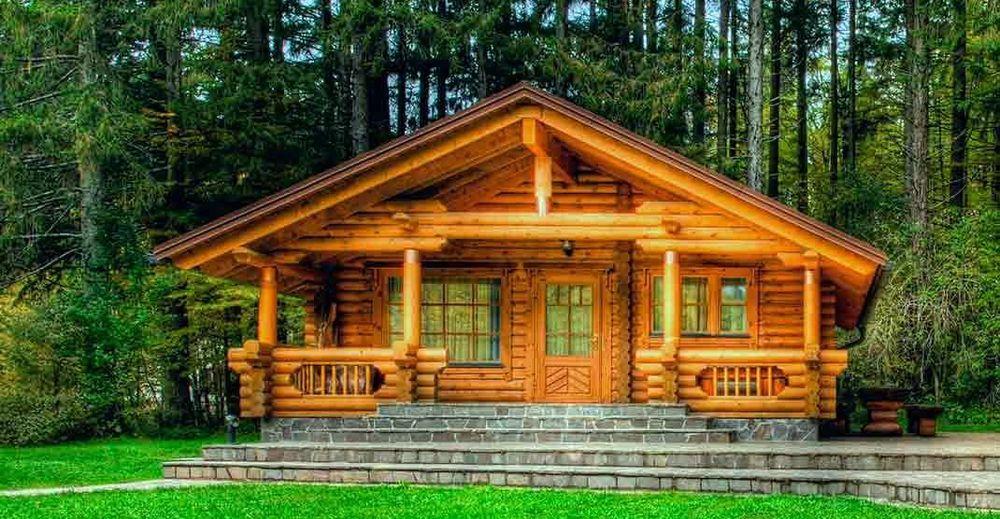 Изготовление домов из оцилиндрованного бревна