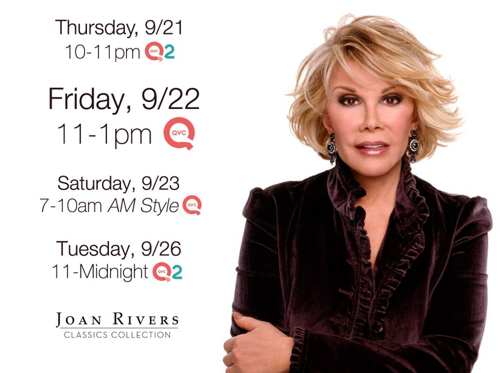 Tune in to @QVC for new fashion and jewelry from the Joan Rivers Classics Collection https://t.co/xT1x20T5Qn