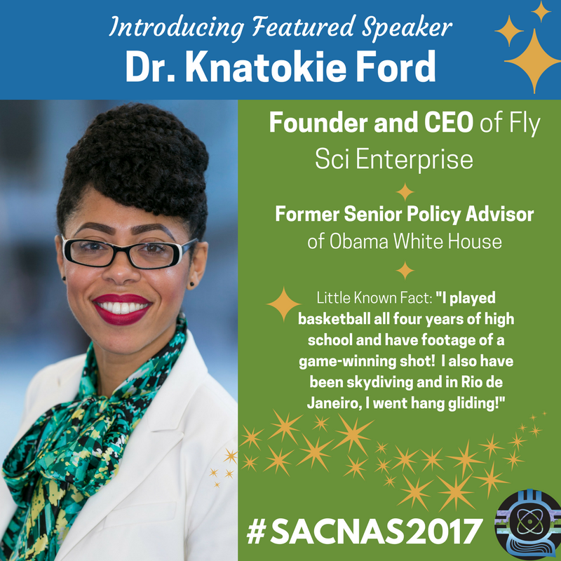 Featured Speaker Spotlight: Dr. Knatokie Ford @fly_sci also plays the violin &amp; loves to !  http:// ow.ly/iWAh30fgWoX  &nbsp;   #SACNAS2017 #BLACKandSTEM <br>http://pic.twitter.com/uTKjZU3yFm