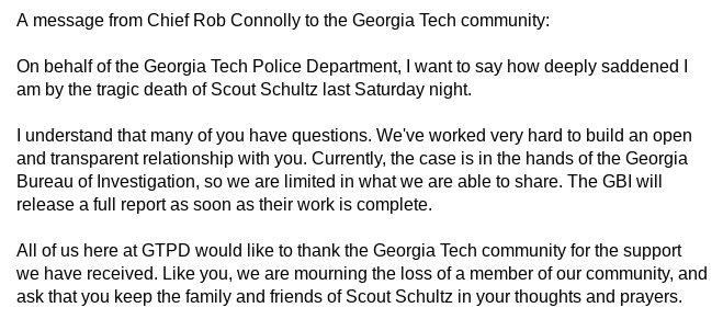 Georgia Tech Police on Twitter: