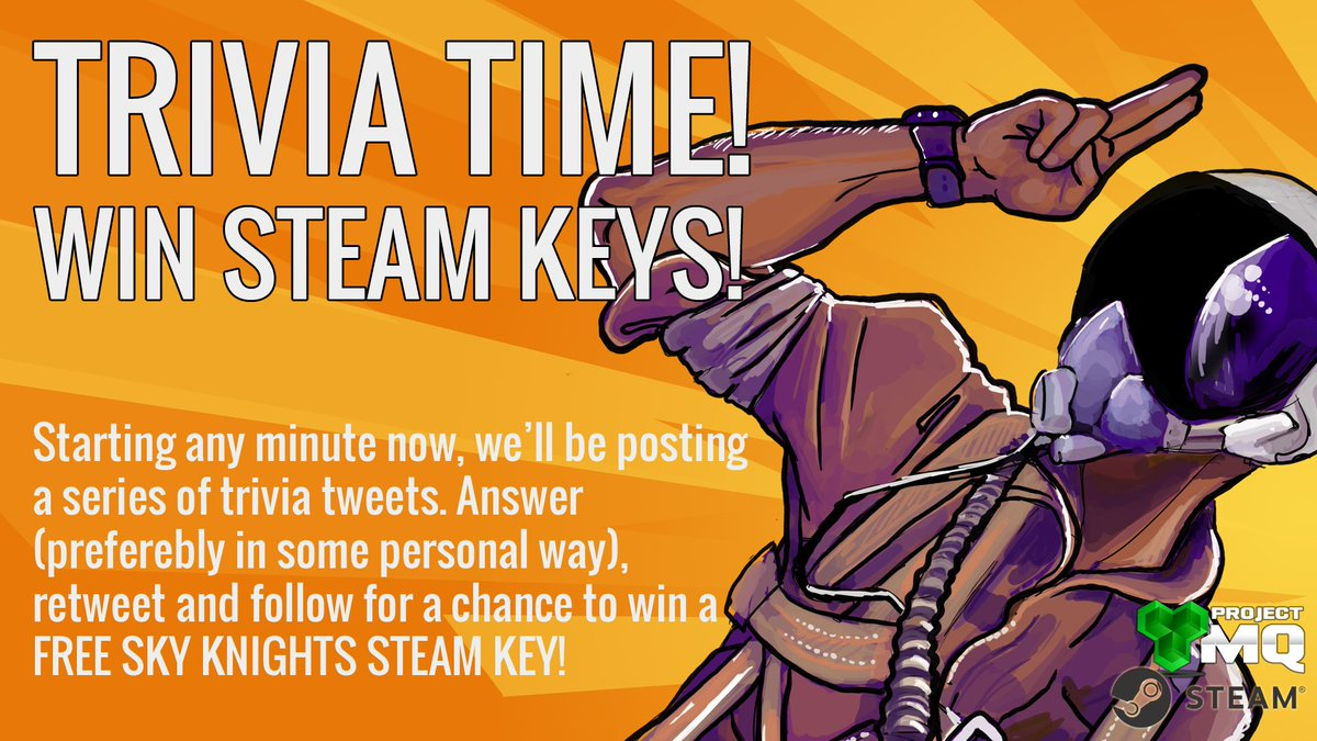 Want to win a free Sky Knights key? Get ready for some trivia! :) #indiegame #skyknights @ProjectMQ<br>http://pic.twitter.com/pddp3zghVp