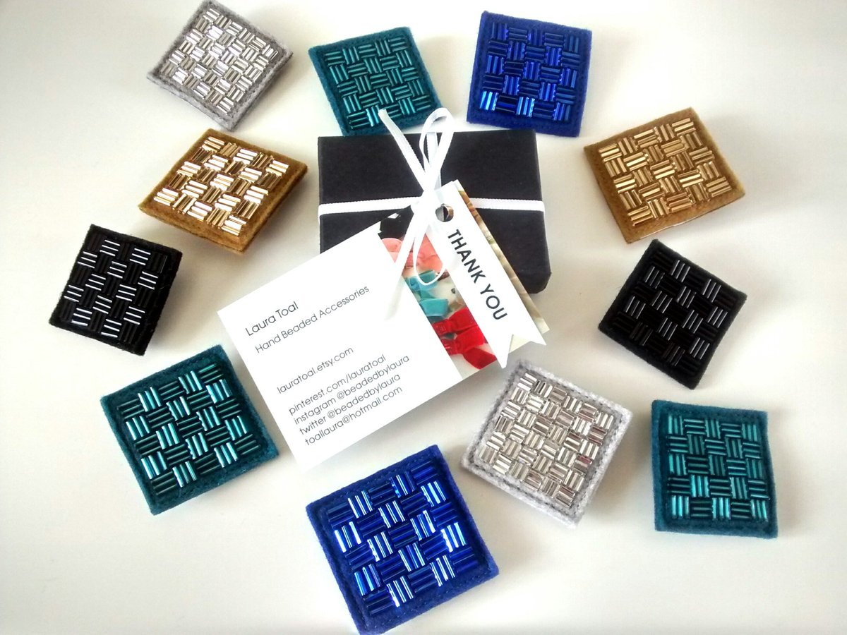 Evening #HandmadeHour sharing the latest relist in my  http:// lauratoal.etsy.com  &nbsp;   shop! Black Beaded Brooch #handmade #felt  #brooch #etsy<br>http://pic.twitter.com/0STQcx3BD6