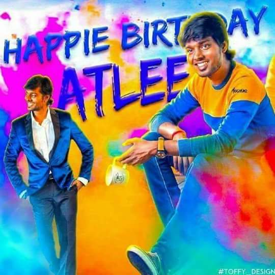 Happy birthday to most talented young dir #Atlee assistant of di #Shankar sir @Atlee_dir Wishing you all success  HBD THERI MERSAL DIR ATLEE<br>http://pic.twitter.com/ivRVMUrly6