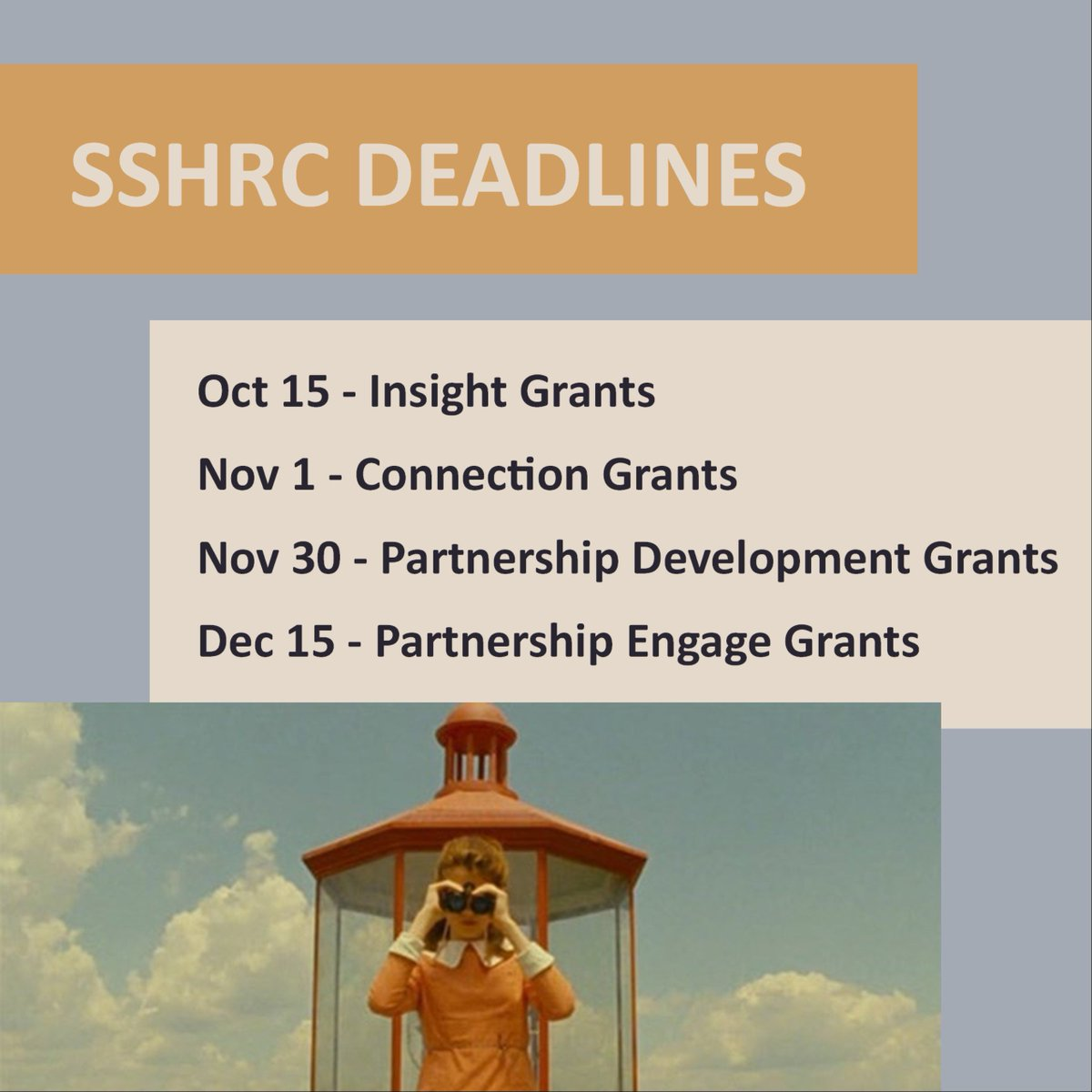 Look out! Upcoming SSHRC deadlines on the horizon. Need more info? Contact @acadiaresearch #AcadiaUResearch <br>http://pic.twitter.com/JHTfaKx1Fe