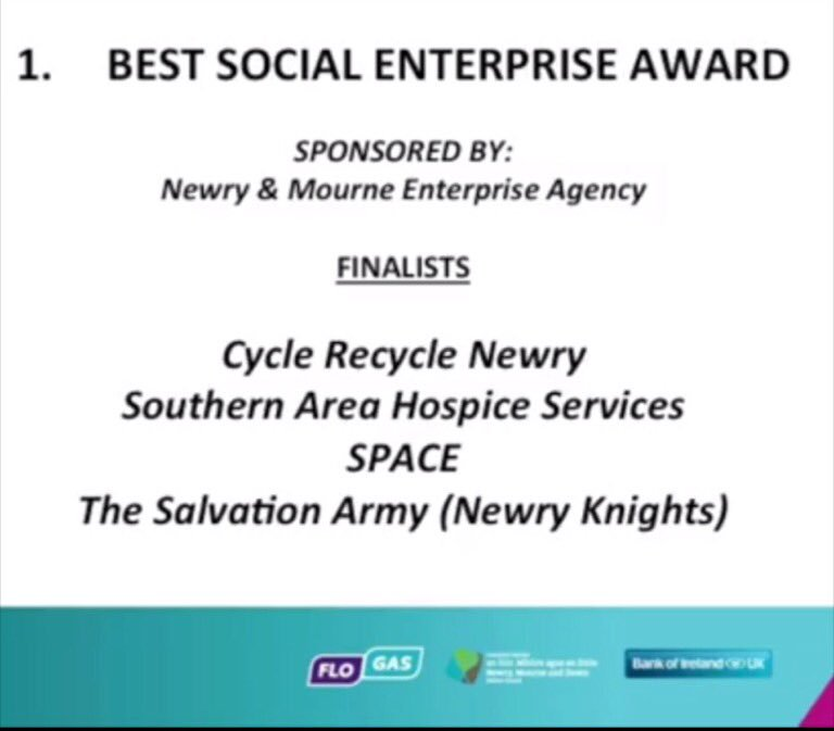 Congrats to #SocialEnterprise Finalists in 2017 Greater #NewryBusinessAwards Sponsored by #Newry&amp;MourneEnterpriseAgency <br>http://pic.twitter.com/nZRjQAP4OH