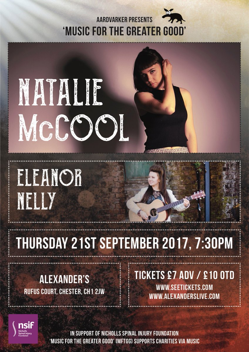 Tomorrow!  Awesome all female line up  - @NatalieMcCool @eleanor_nelly  &amp; Martha Peters @AlexandersLive #chester   http://www. seetickets.com/go/nataliemcco ol &nbsp; … <br>http://pic.twitter.com/NtuEPGkOrW