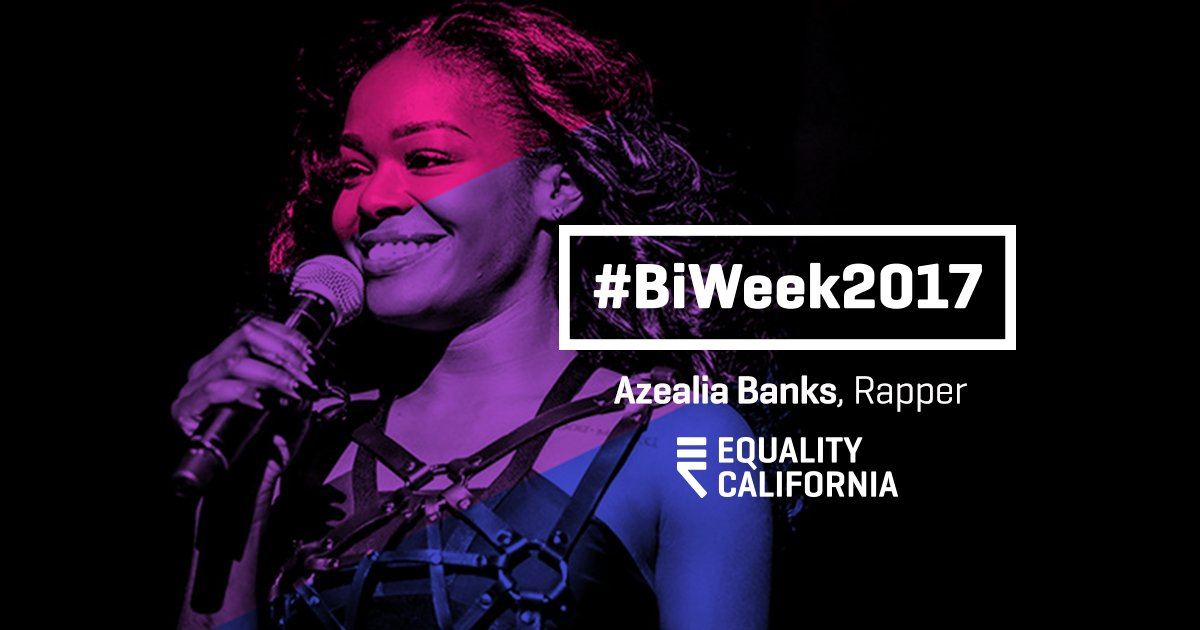 Thank you for using your voice to speak out for the #LGBTQ community Azealia Banks! #BiWeek2017 https://t.co/8T8etitkzK