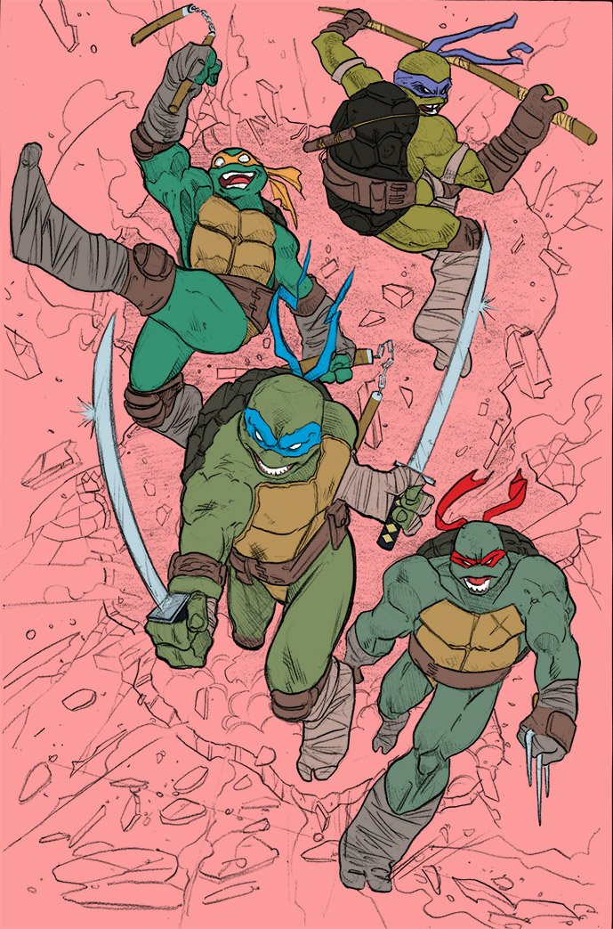 #WIP It will be for sale very soon. #TMNT #fanart #art #artist #comicart #comicartist #drawing #print #comics #comicbooks #flats<br>http://pic.twitter.com/BDtUMZupNn