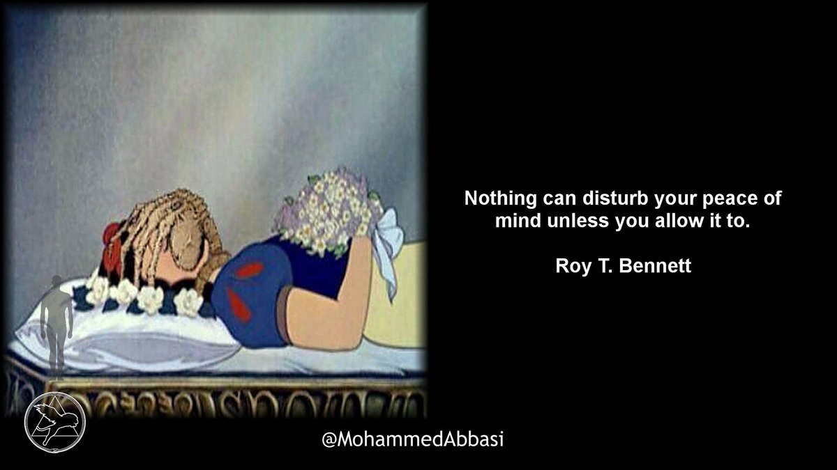 Nothing can disturb your #peace of #mind unless you allow it to.  #RoyTBennett #Mindfulness #RoshHashanah  #SnowWhite #Alien #Seven #Love<br>http://pic.twitter.com/tX4P39El9m