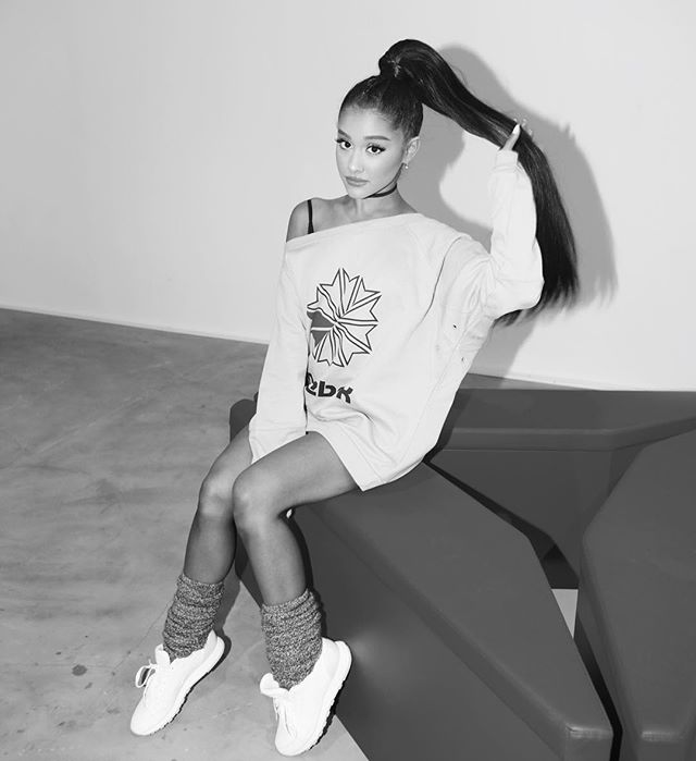 Some #ArianaxReebok fierceness for your Wednesday 🔥  @ArianaGrande @Re...