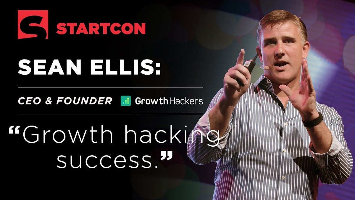 Sean Ellis on #Growth Hacking Success at StartCon 2016  http:// growthhackers.com/videos/sean-el lis-on-growth-hacking-success-at-startcon-2016?utm_source=Twitter&amp;utm_medium=GHTrendingNow&amp;utm_campaign=2214 &nbsp; …  #NewOnGH<br>http://pic.twitter.com/YssSQBtpvp