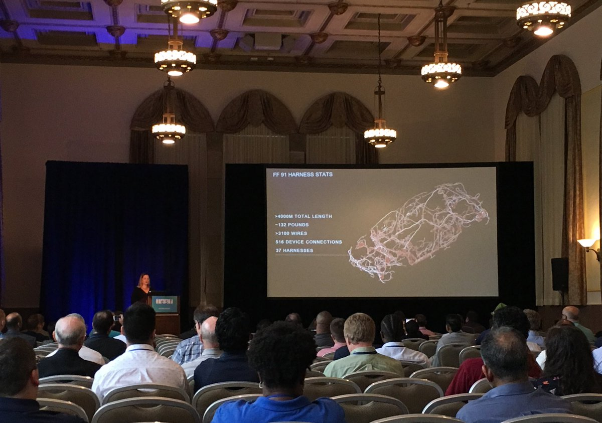 """Mentor Automotive on Twitter: """"Faraday Future's Ulrike Hoff had a large  crowd @ #IESFAuto to discuss today's unique challenges for wire harness  development ..."""