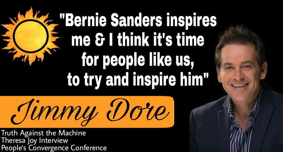 #WednesdayWisdom &quot;I think its time for people like us to try &amp; inspire him&quot; @jimmy_dore   https:// youtu.be/T5_euQchhbk  &nbsp;   @TATMnews #Convergence2017<br>http://pic.twitter.com/2cVl2B5XkM