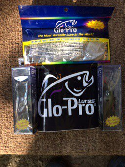 Thanks so much @GloProLures for the new baits. Can&#39;t wait to hit the water and test them out....#Tightlines <br>http://pic.twitter.com/YPDyYUq8ov