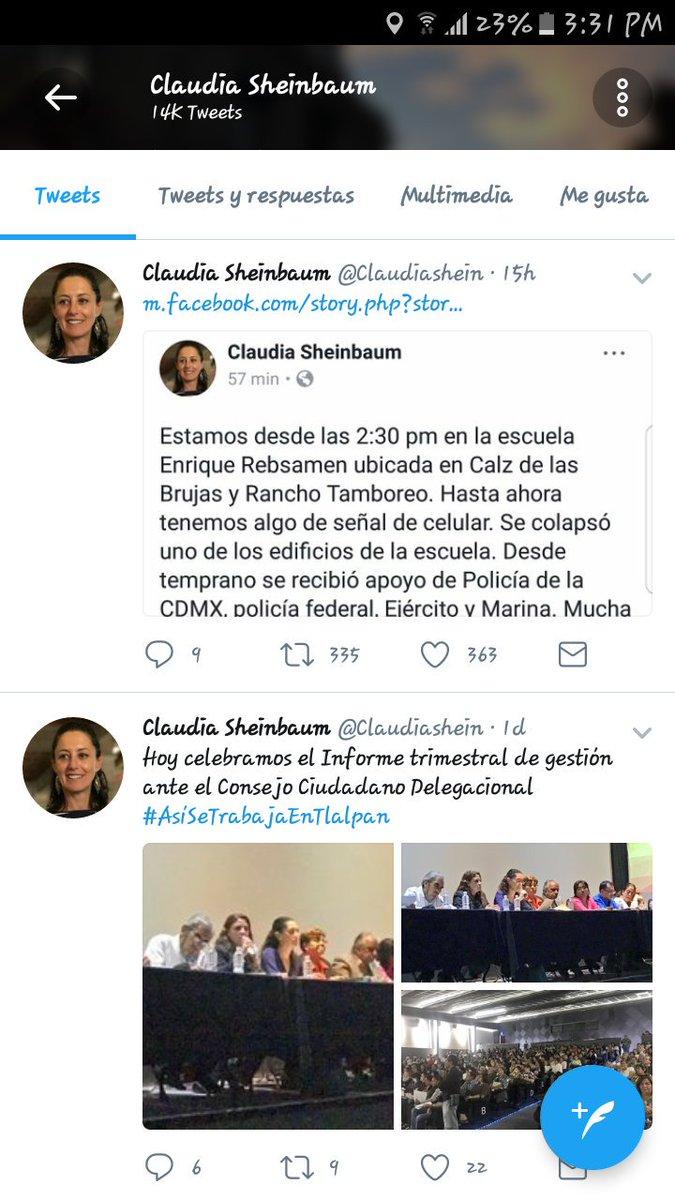 Claudia Sheinbaum Twitterissä