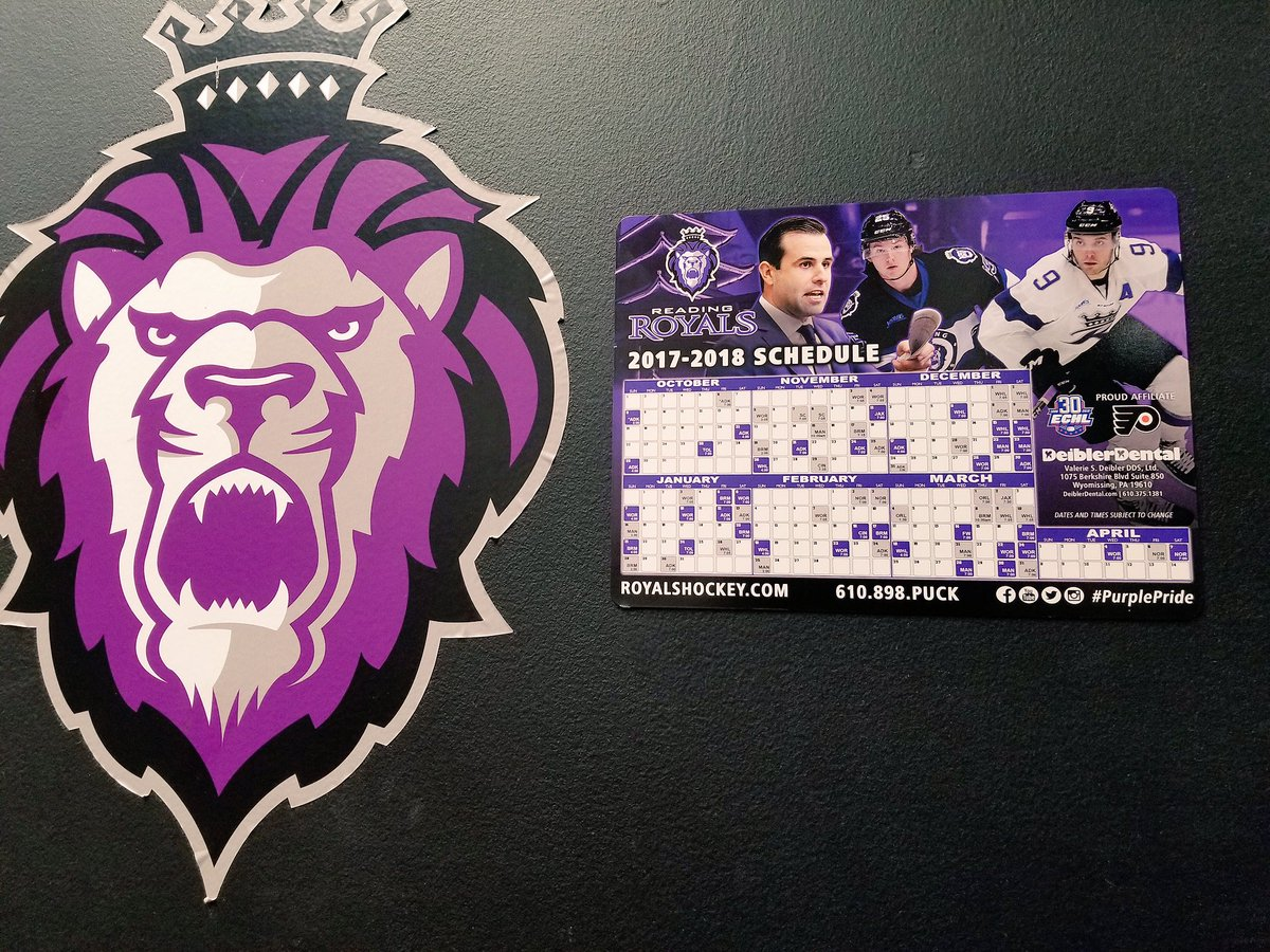 "reading royals on twitter: ""our new magnet schedules are here! you"