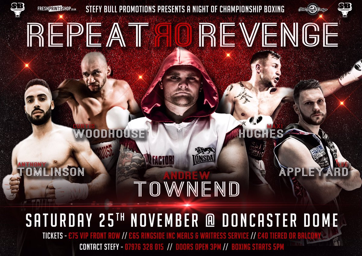 November 25th is the date. Contact me or @StefyBull for tickets. #Doncaster #boxing<br>http://pic.twitter.com/Ybh2xSUoF7