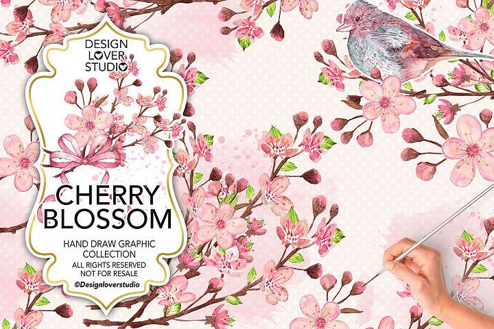 Watercolor Cherry Blossom design  https:// designbundles.net/designloverstu dio/14043-watercolor-cherry-blossom-design/rel=qxa0Af &nbsp; …  #graphic #floral<br>http://pic.twitter.com/SESY4VDmOR