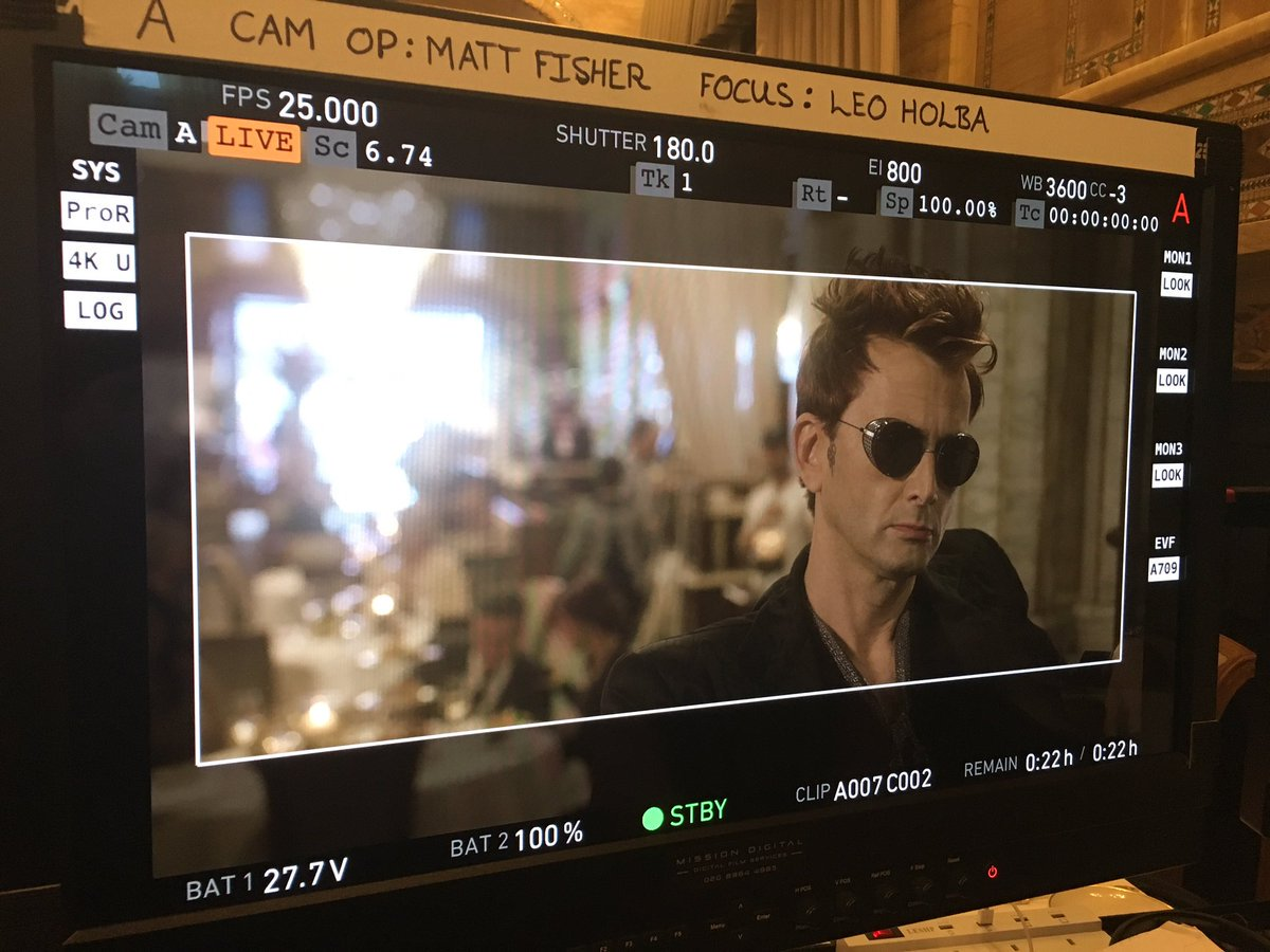 David Tennant in Good Omens - Wednesday 20th September 2017