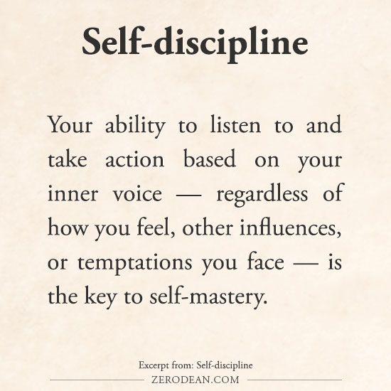 Discipline a key to success
