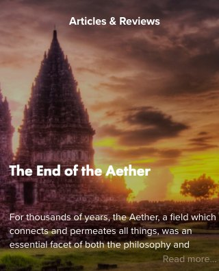 Article on the &quot;Aether&quot; by @ResonanceSci Foundation:  http:// bit.ly/2kSyAuU  &nbsp;   @WBrown__RSF  #Aether #æther #aither #physics #science #RSF<br>http://pic.twitter.com/NgkYzflKrz