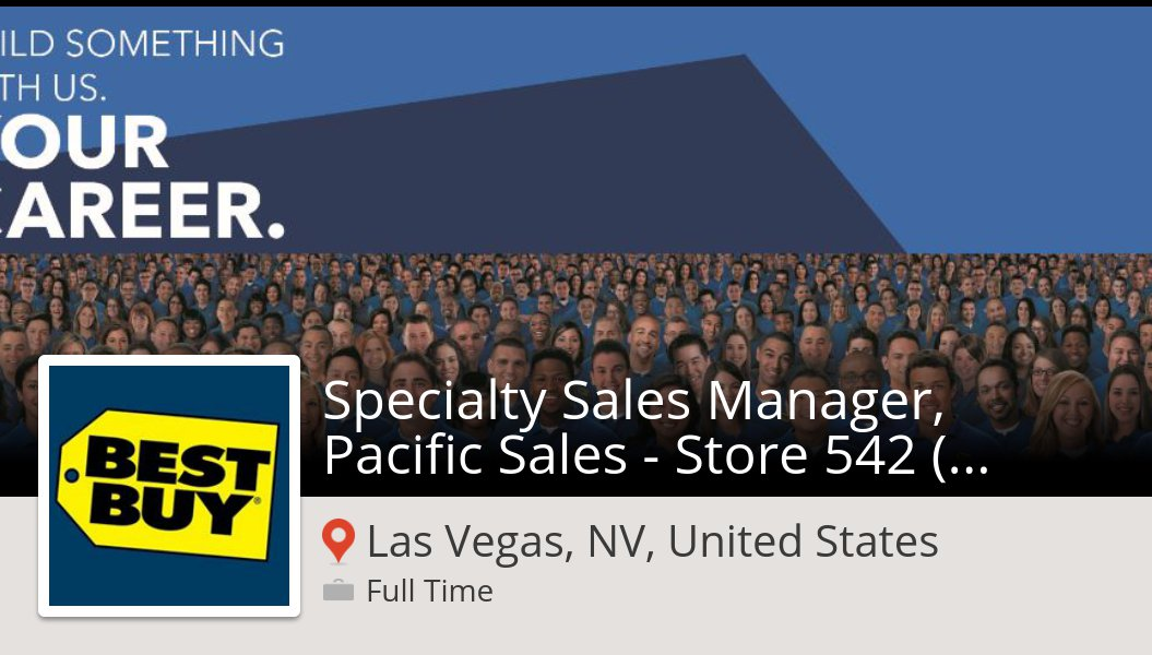 Ericka P Vereen On Twitter Bestbuy Specialty Sales Manager