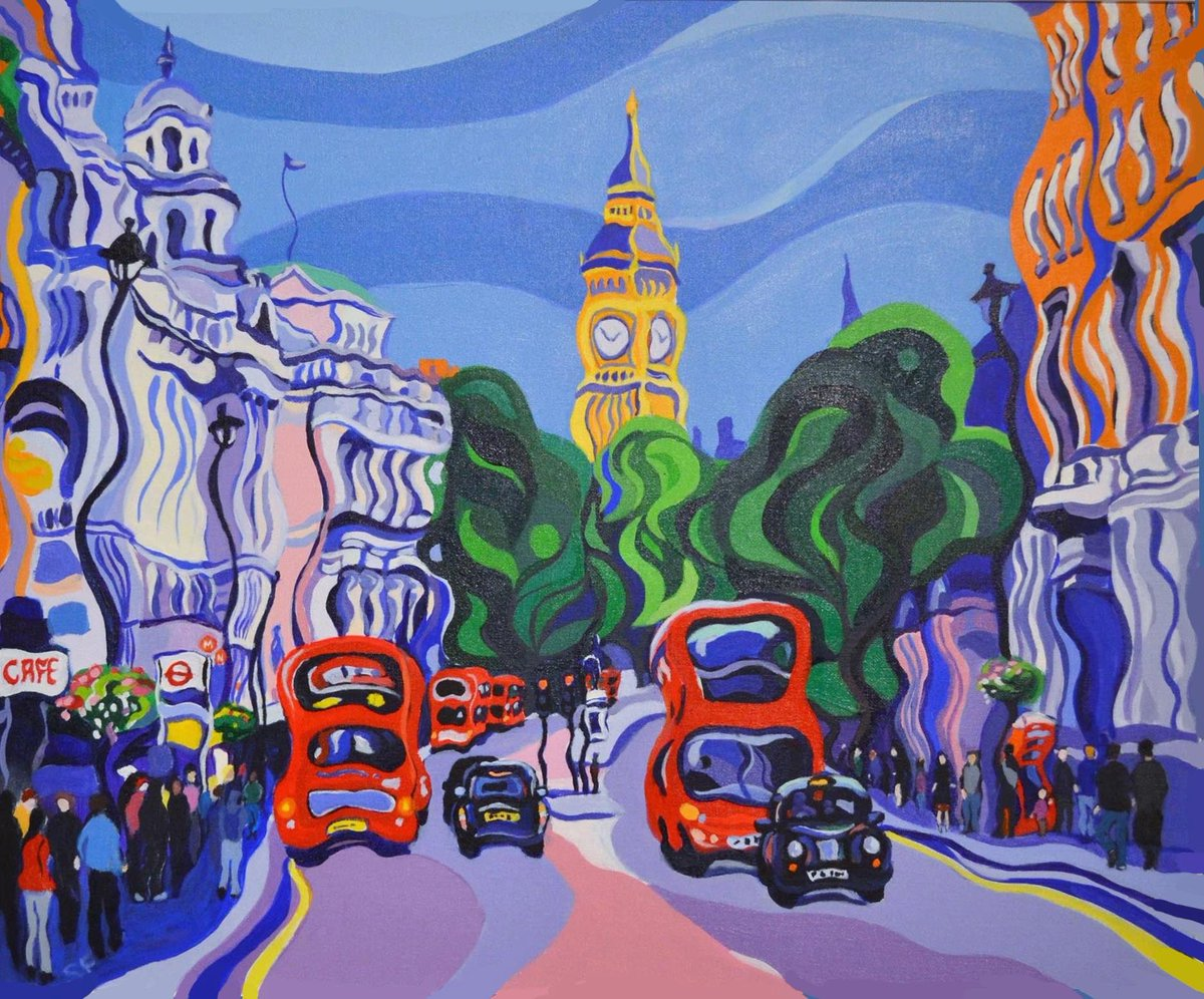 My latest original #painting #BigBen #London #loveLondon #londoncab #londonbus #city #icon #forsale #buyart #abstractart #contemporaryart<br>http://pic.twitter.com/n7IXSWBfCk
