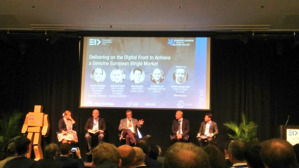 &quot;Europe is changing much faster than the perception of Europe&quot; - G. De Graaf, Dir. Digital Single Market, European Commission. #EID #SEC2SV<br>http://pic.twitter.com/xpC0OnlFnS
