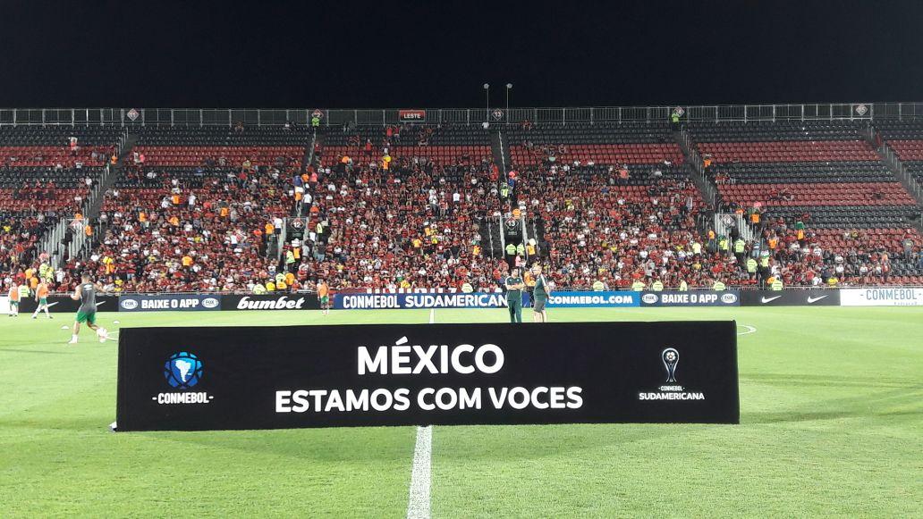 O futebol sul-americano manda seu apoio e sua força a todos os afetados pela tragédia no México! #FuerzaMexico