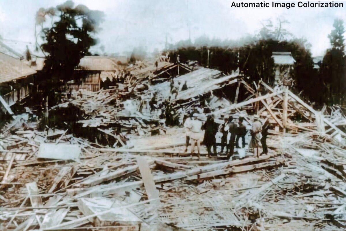 83年前の今日。1934年9月21日、室戸台風が大阪付近に再上陸した。死者・行方不明者は3,036人となり、西日本を中心に大きな被害が生じた。ニューラルネットワークによる自動色付け。