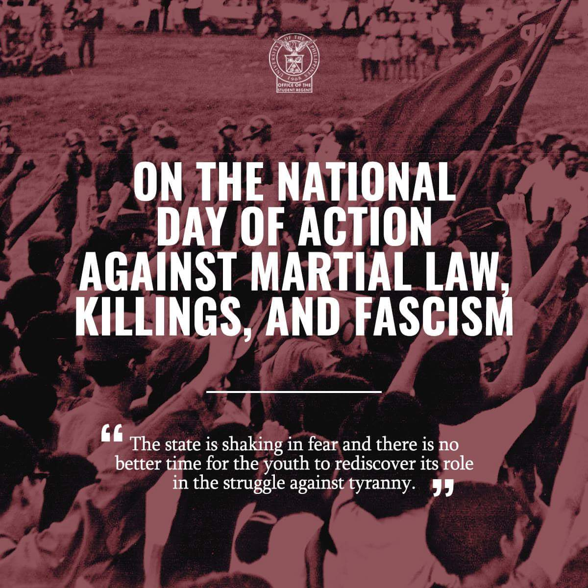#PressRelease on the national day of action against Martial Law, Killings, and Fascism.  http:// bit.ly/2jNgJcS  &nbsp;    #NoToMartialLaw<br>http://pic.twitter.com/zTOGjf5sKo