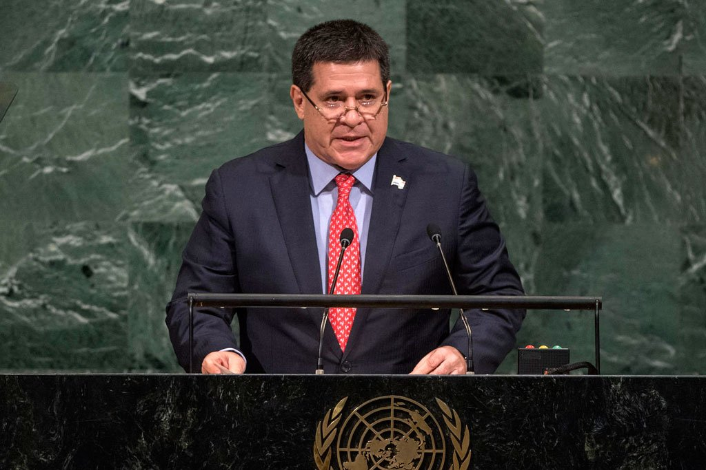 UN vital to confront world challenges ranging from poverty #climatechange to terrorism– President of #Paraguay #UNGA https://t.co/qV7D3Tvlfp