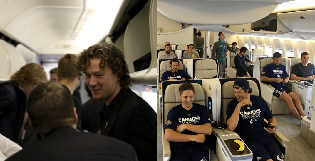 #Canucks and #LAKings had very different flights to China (PHOTOS) #NH...