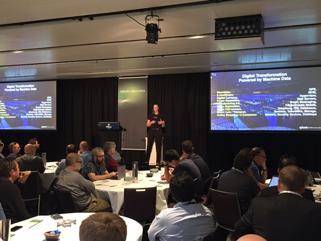 #Splunk&#39;s Amanda Lugton at Discovery Day: &quot;Disruptive approach to #MachineData means no limits on format, no limits on amount of data&quot;<br>http://pic.twitter.com/2sVAmehmFP