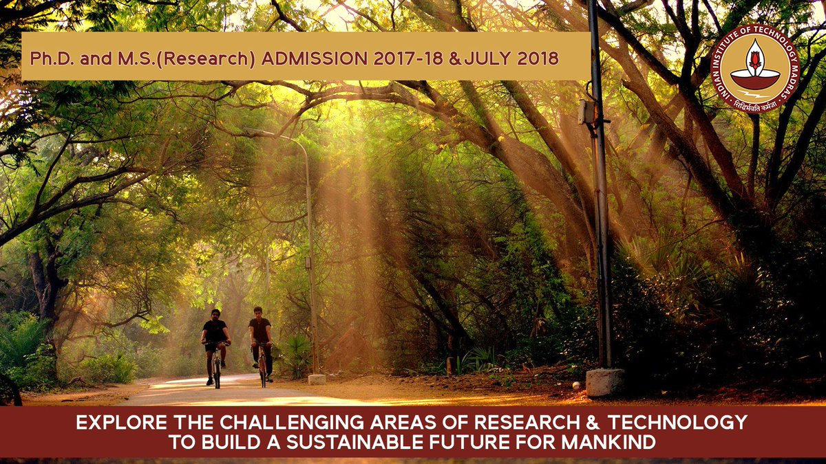 #Applications are invited from eligible candidates for admission to the #Research #Programme for Ph.D./M.S.  https:// research.iitm.ac.in  &nbsp;  <br>http://pic.twitter.com/ENUPhNSISz