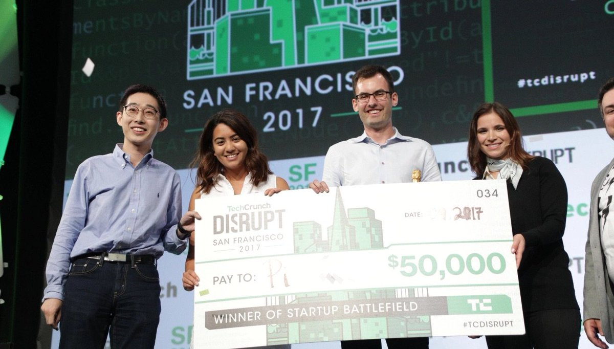 And the winner of Startup Battlefield at Disrupt SF 2017 is… Pi https://t.co/CQcI6a5IDP by @romaindillet  #TCDisrupt