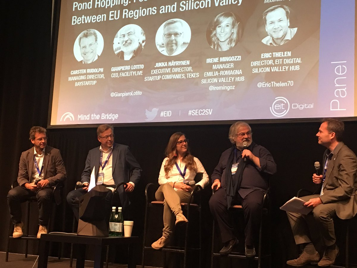 &quot;In the next 5 to 10 years there will be companies of the scale of the Silicon Valley giants in Europe&quot; @GianpieroLotito #EID #SEC2SV<br>http://pic.twitter.com/GgDhSRBePL