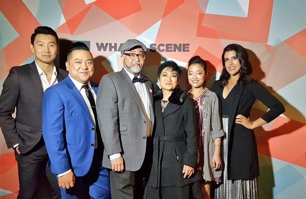.@KimsConvenience cast has arrived at #CalgaryFilm 📸 #yyc #kimsontour...