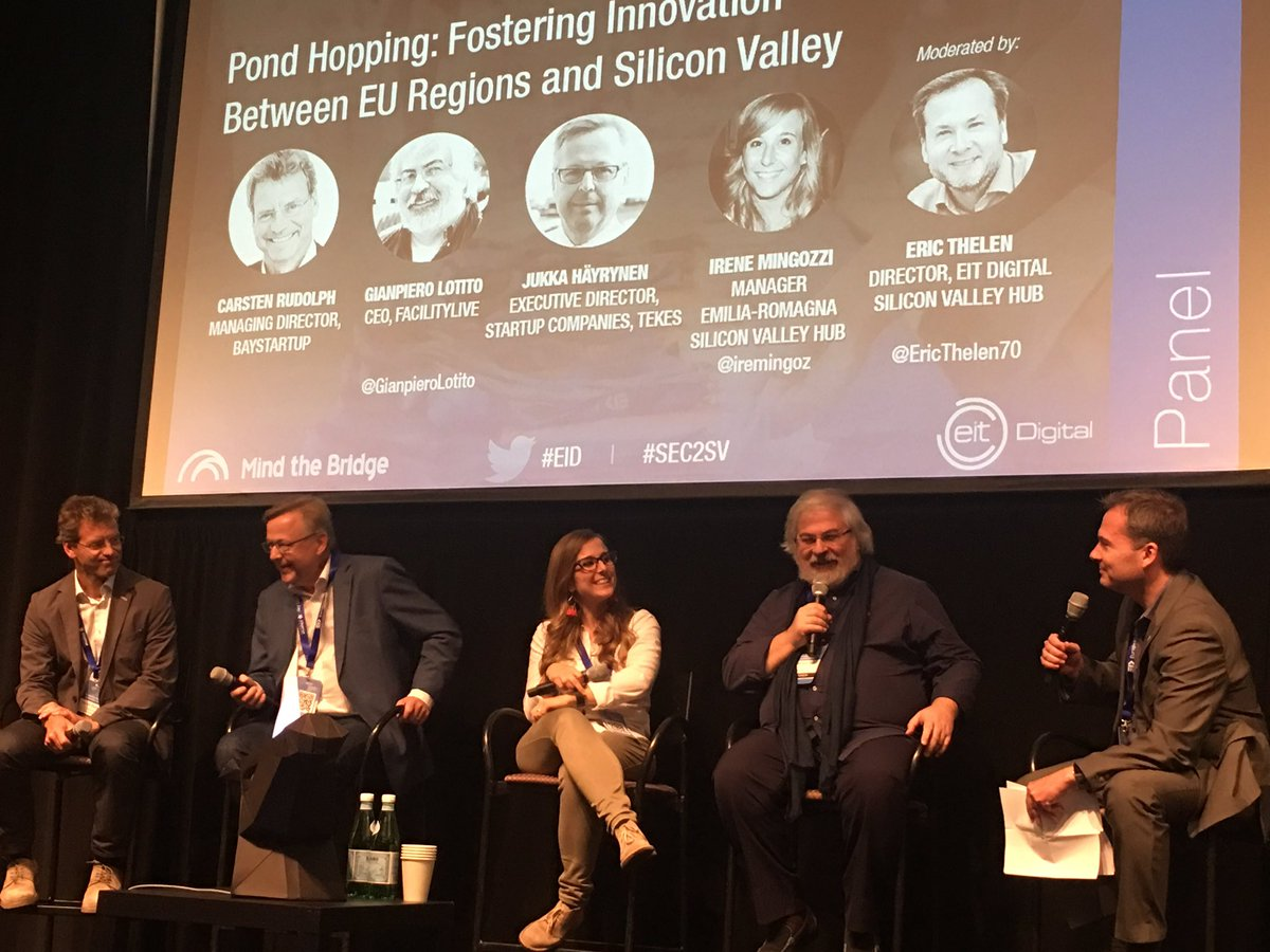 &quot;From the relation with Silicon Valley we learnt it is possibile to create a #global SW company starting from Italy&quot; @GianpieroLotito @ #EID <br>http://pic.twitter.com/F78PNBNnYg