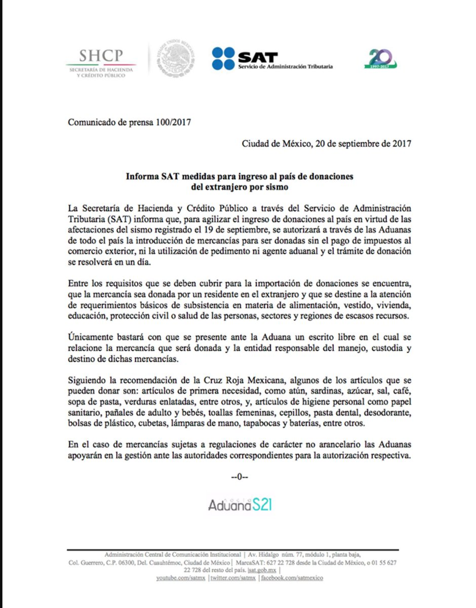 G Global Agencia Aduanal Y De Logística On Twitter El Sat