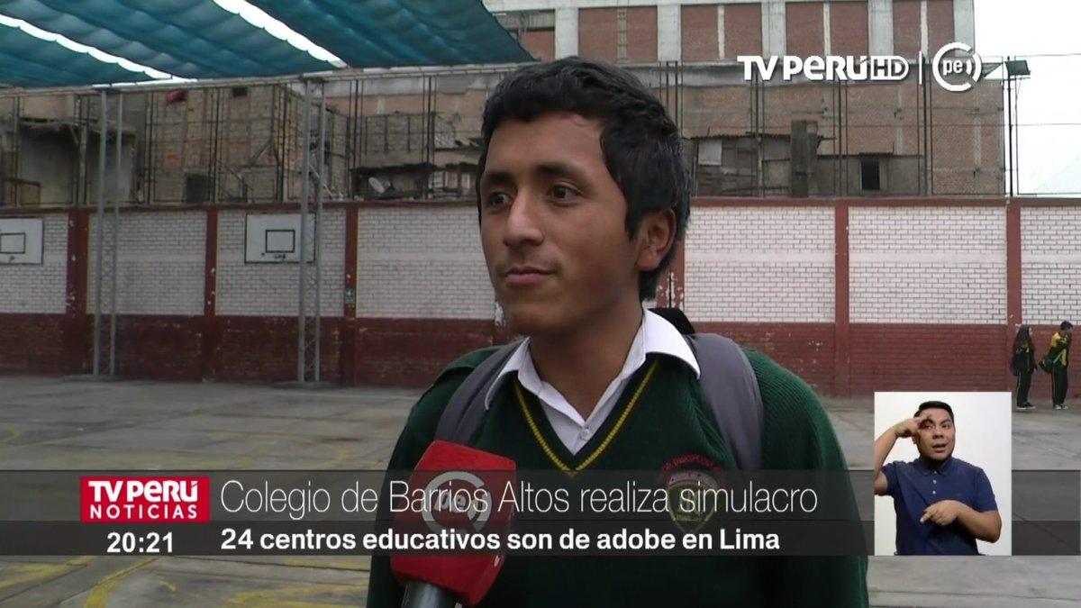 Colegio de Barrios Altos realiza simulacro de #sismo ►https://t.co/zg1n70YWkK #TVPerúInforma