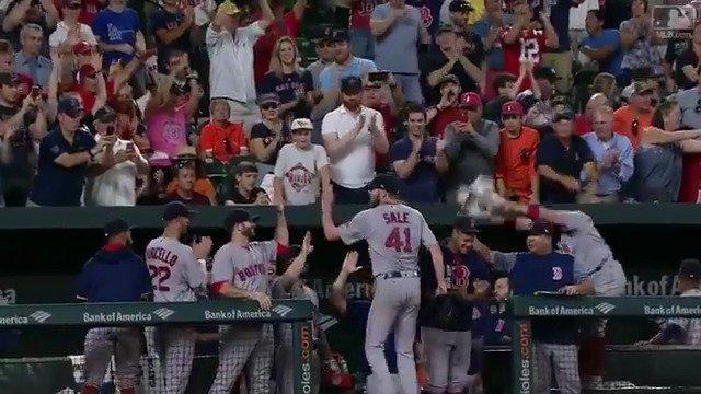 No. 3️⃣0️⃣0️⃣!  Chris Sale records AL's first 300-K campaign since 1999, @MLB's sixth since 2000. https://t.co/jvnuD3uMDJ
