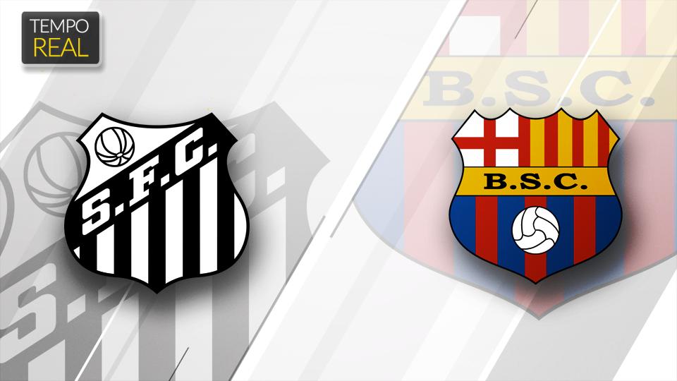 GOOOOOOOLLLLL!!! O Barcelona-EQU abre o placar contra o Santos, na Vila Belmiro, e complica o time brasileiro. Siga:https://t.co/nbTznl68yk