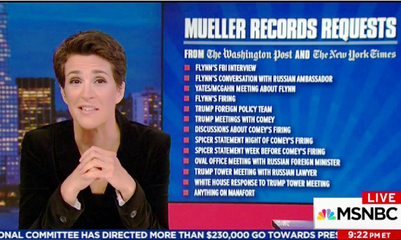 Maddow Praises Media For In-Depth Reporting on Russia Probe: 'Thank You American Press Corps' https://t.co/tofhtYF8Xx (VIDEO)
