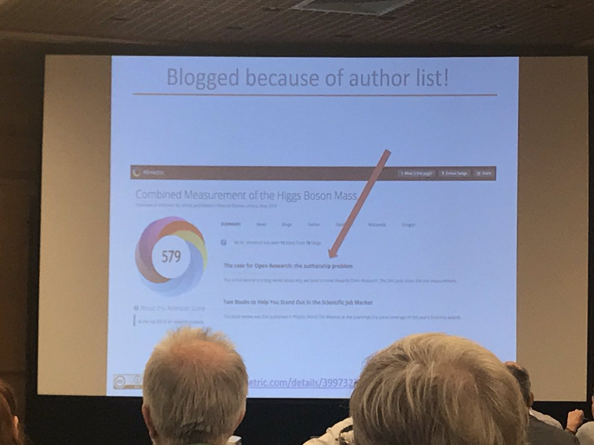 .@dannykay68 #altmetric scores can also be problematic. 5000-author paper blogged about because of author list... #COASP9<br>http://pic.twitter.com/UvgBAYHSa6