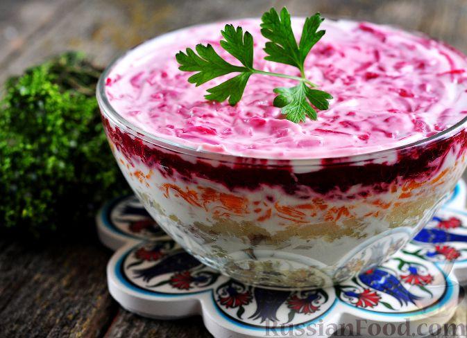 Рецепт салата сельдь под шубой классический